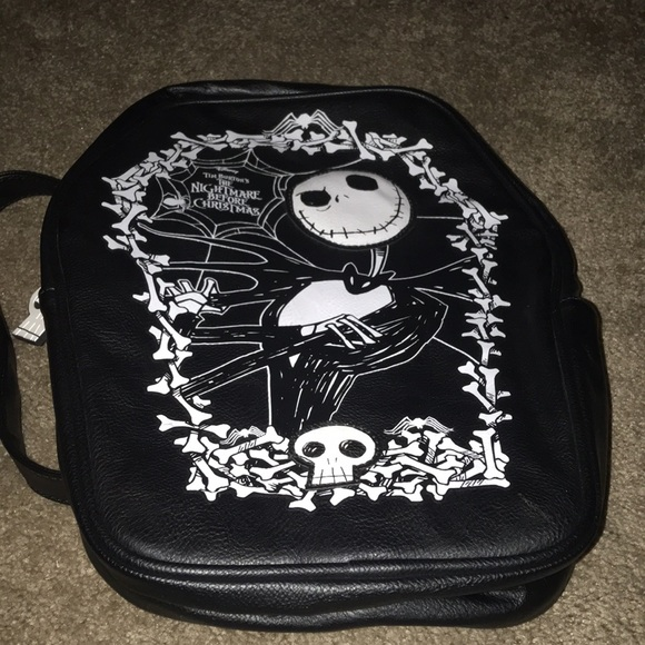 Hot Topic Nightmare Before Christmas Backpack.Nightmare Before Christmas Coffin Backpack